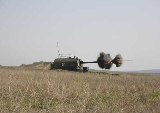 """Стрельбы берегового артиллерийского комплекса """"Берег"""""""