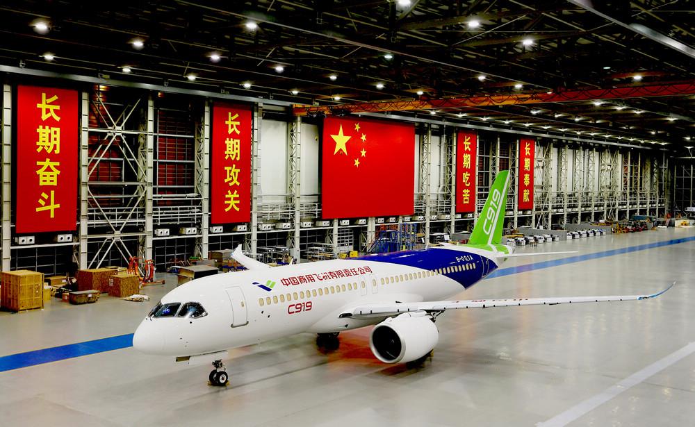 Ввод в эксплуатацию китайского пассажирского самолета С919 откладывается