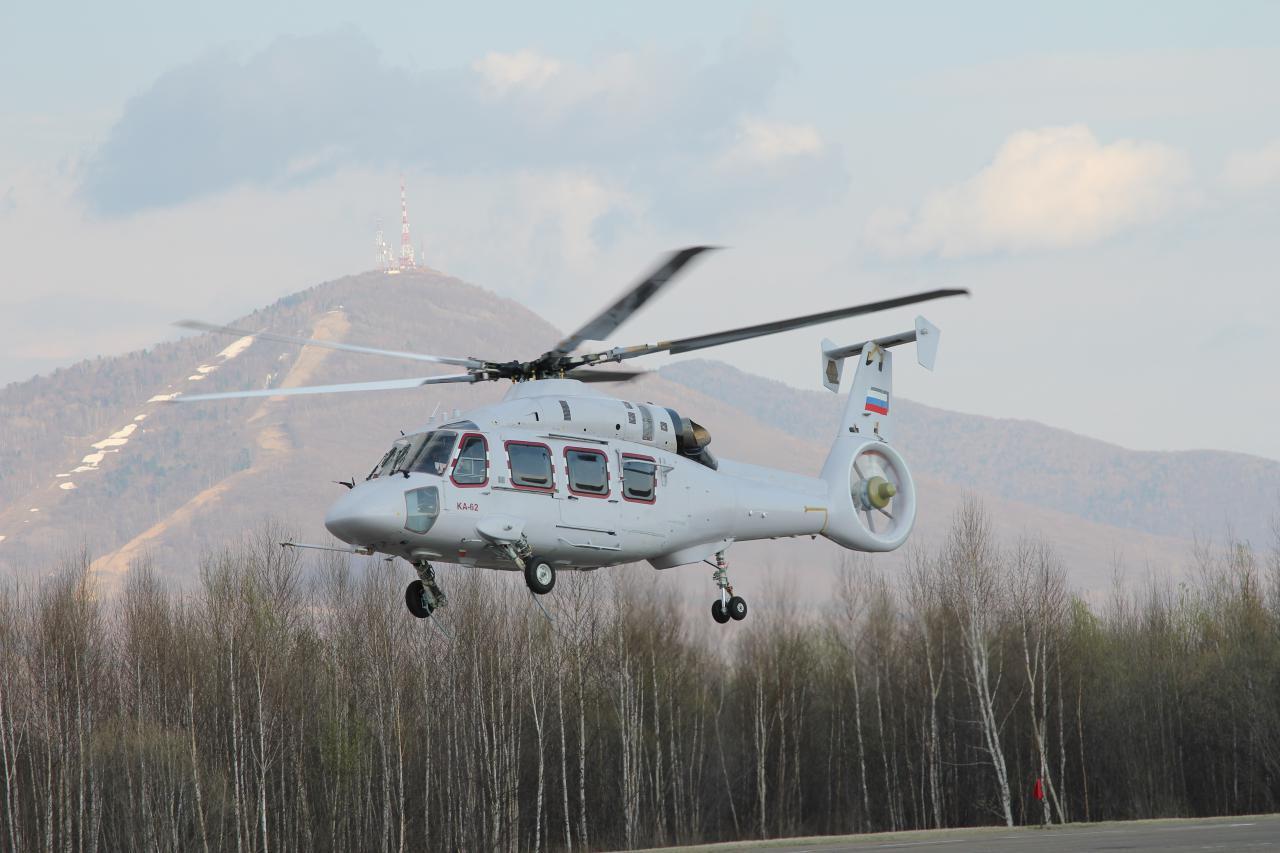 Официальный пресс-релиз о первом полете вертолета Ка-62