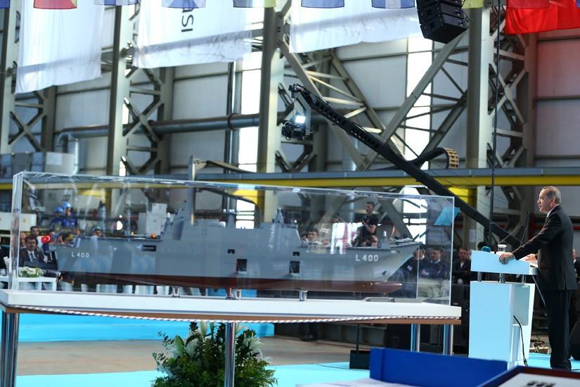 Начата постройка турецкого универсального десантного корабля Anadolu
