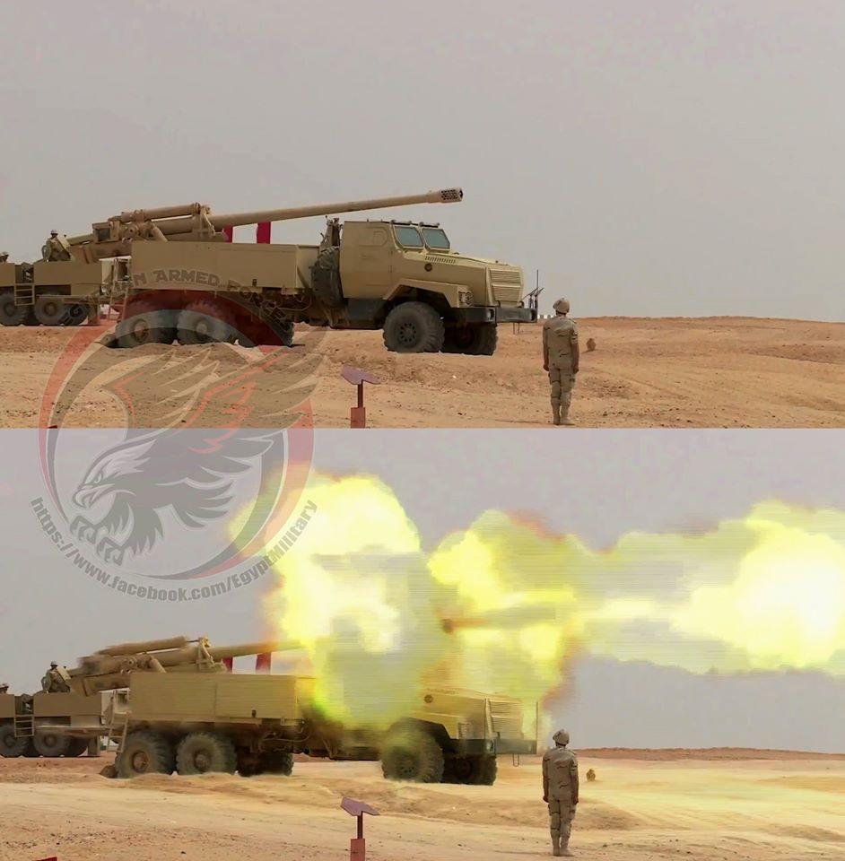 """Египетские самоходные артиллерийские установки на базе автомобиля """"Урал-4320"""""""
