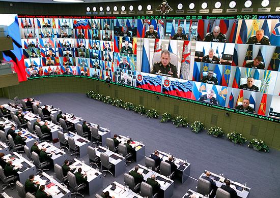 Селекторное совещание Министра обороны России с руководством Вооруженных Сил