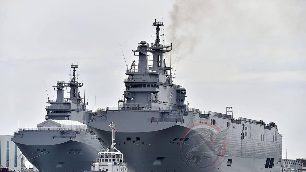 Первый египетский корабль типа Mistral вышел в море