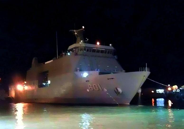 Десантный корабль-док Tarlac прибыл на Филиппины