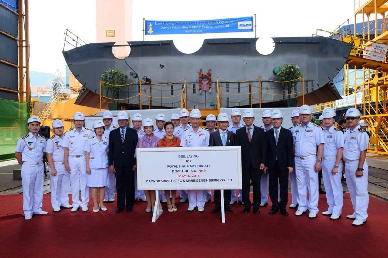 В Южной Корее заложен фрегат для Таиланда