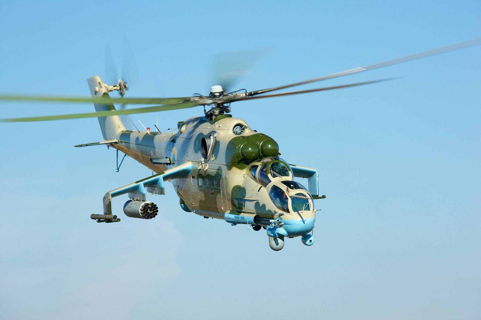 На Украине начаты испытания модернизированого боевого вертолета Ми-24ПУ2 ?