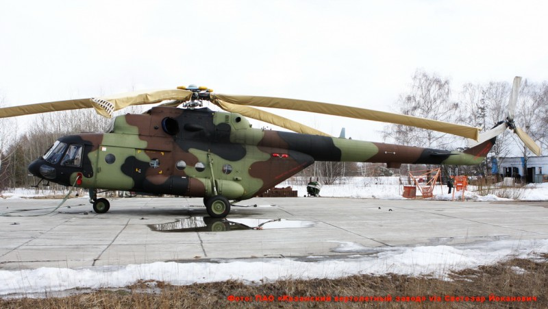 В середине июне Сербия должна получить два вертолета Ми-17В-5 нового производства