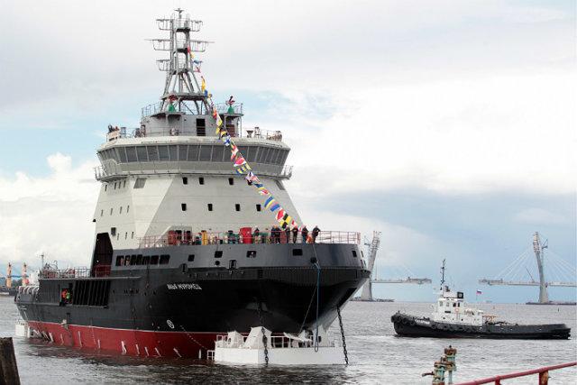 Спущен на воду ледокол «Илья Муромец» для ВМФ России