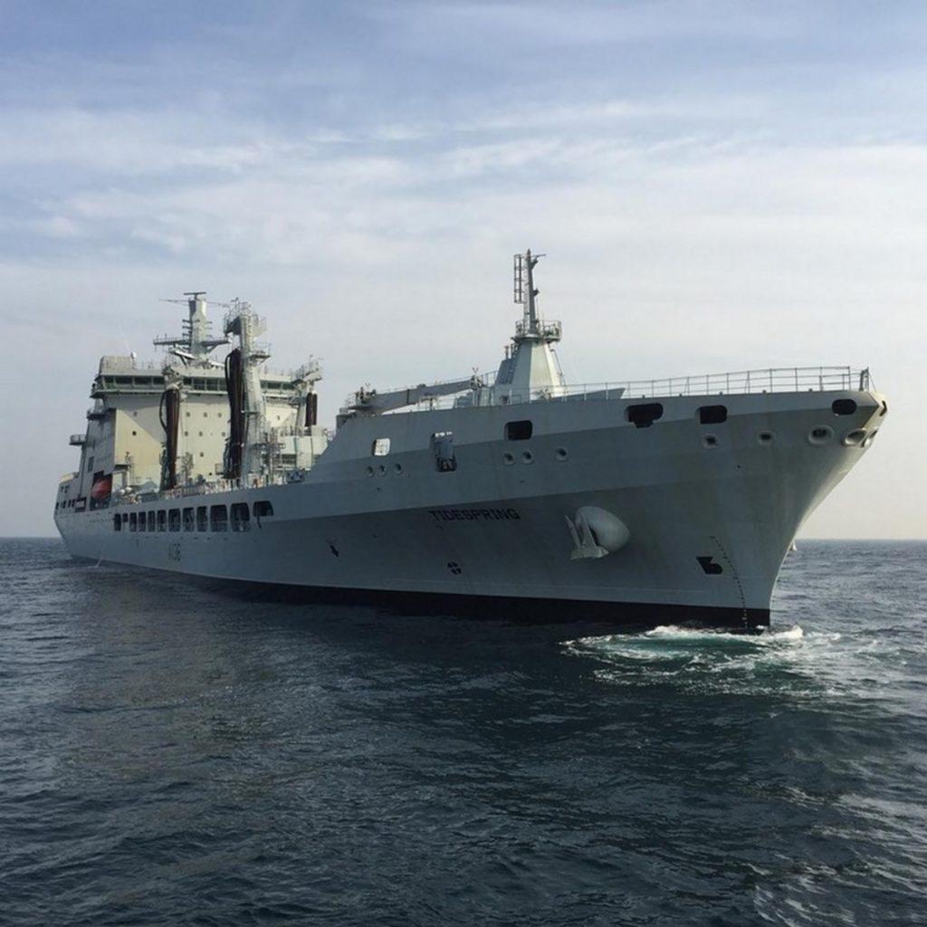 Начаты испытания британского судна комплексного снабжения Tidespring