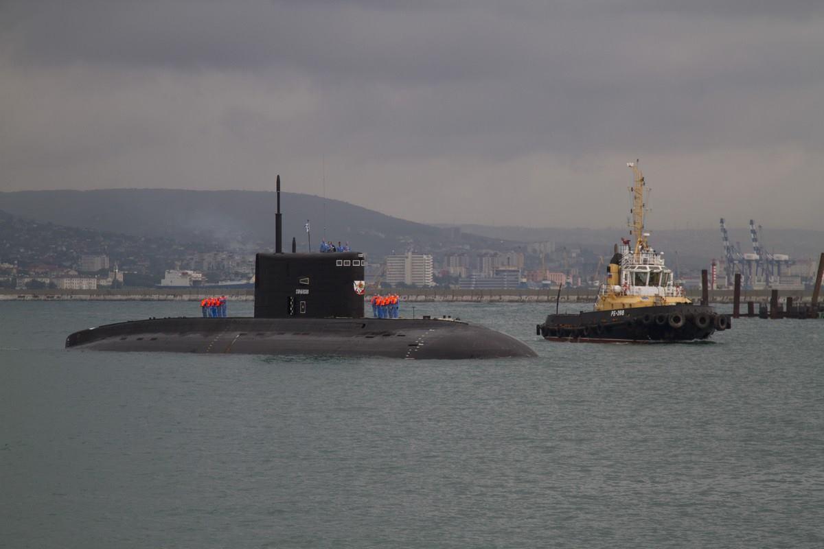 """Подводная лодка """"Старый Оскол"""" прибыла на Черноморский флот"""