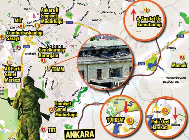 Атаки военных в Анкаре