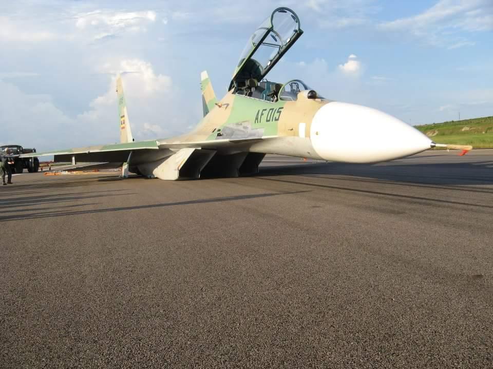Очередная авария угандийского Су-30МК2