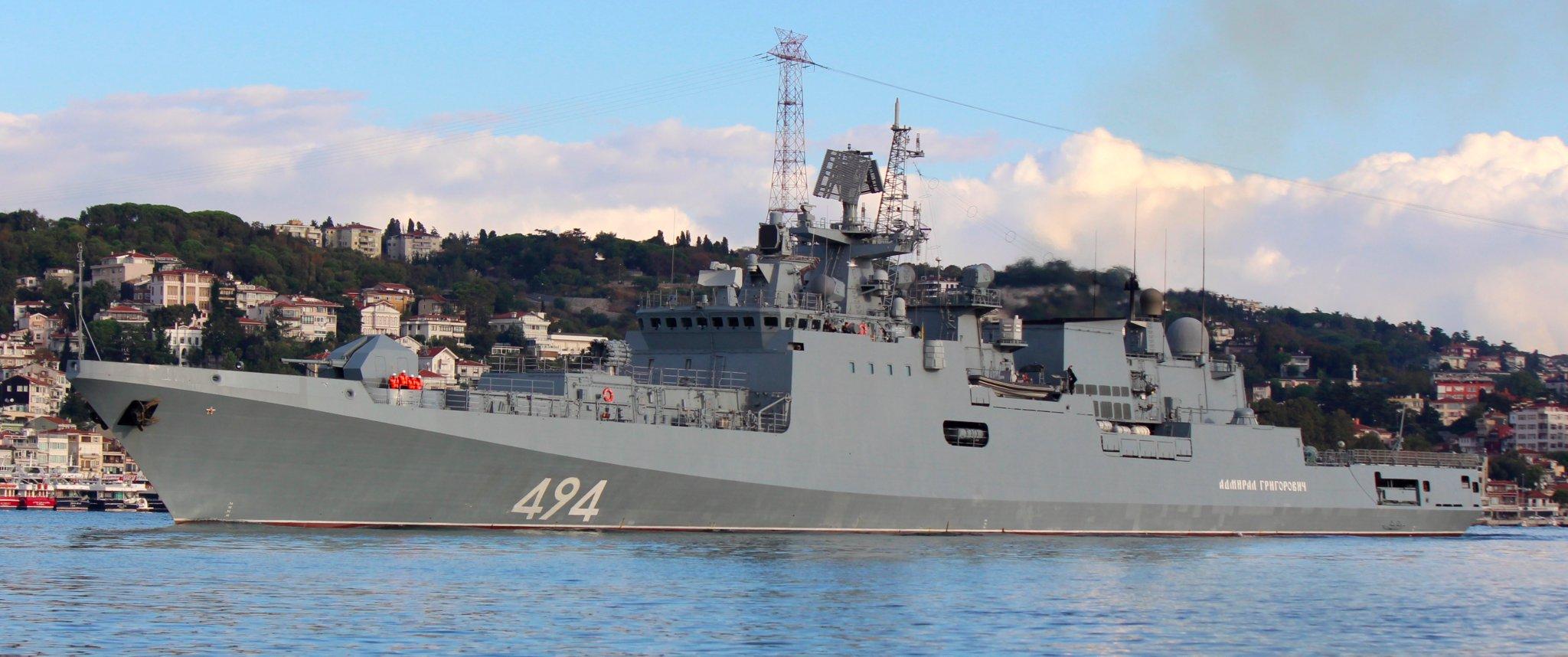 """""""Адмирал Григорович"""" вышел на первую боевую службу в Средиземное море"""