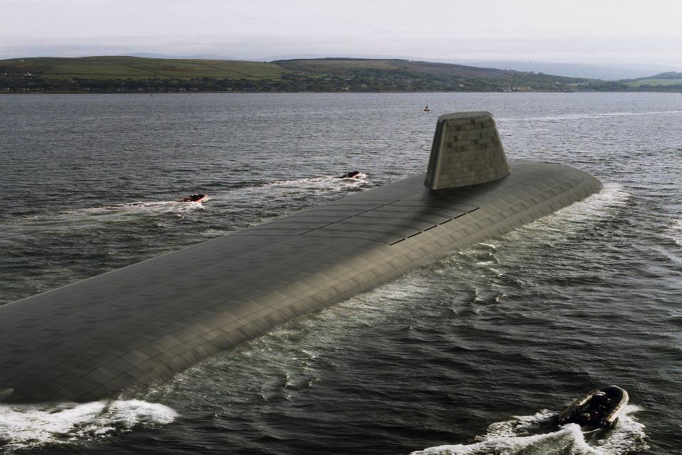 Первое официальное изображение перспективной британской атомной ракетной подводной лодки