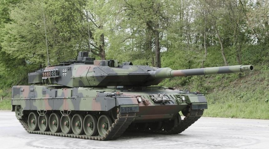 Германский модернизированный танк Leopard 2A7V