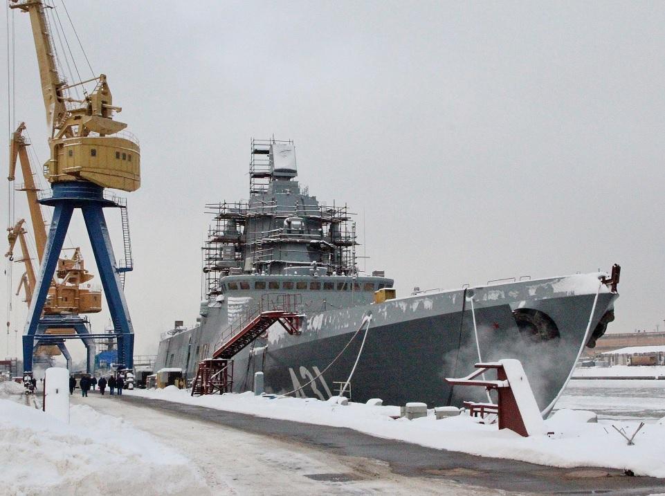 """Фрегат """"Адмирал флота Касатонов"""" в достройке"""