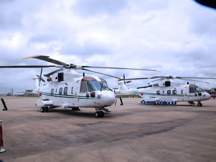 Two-Presidential-Helicopters