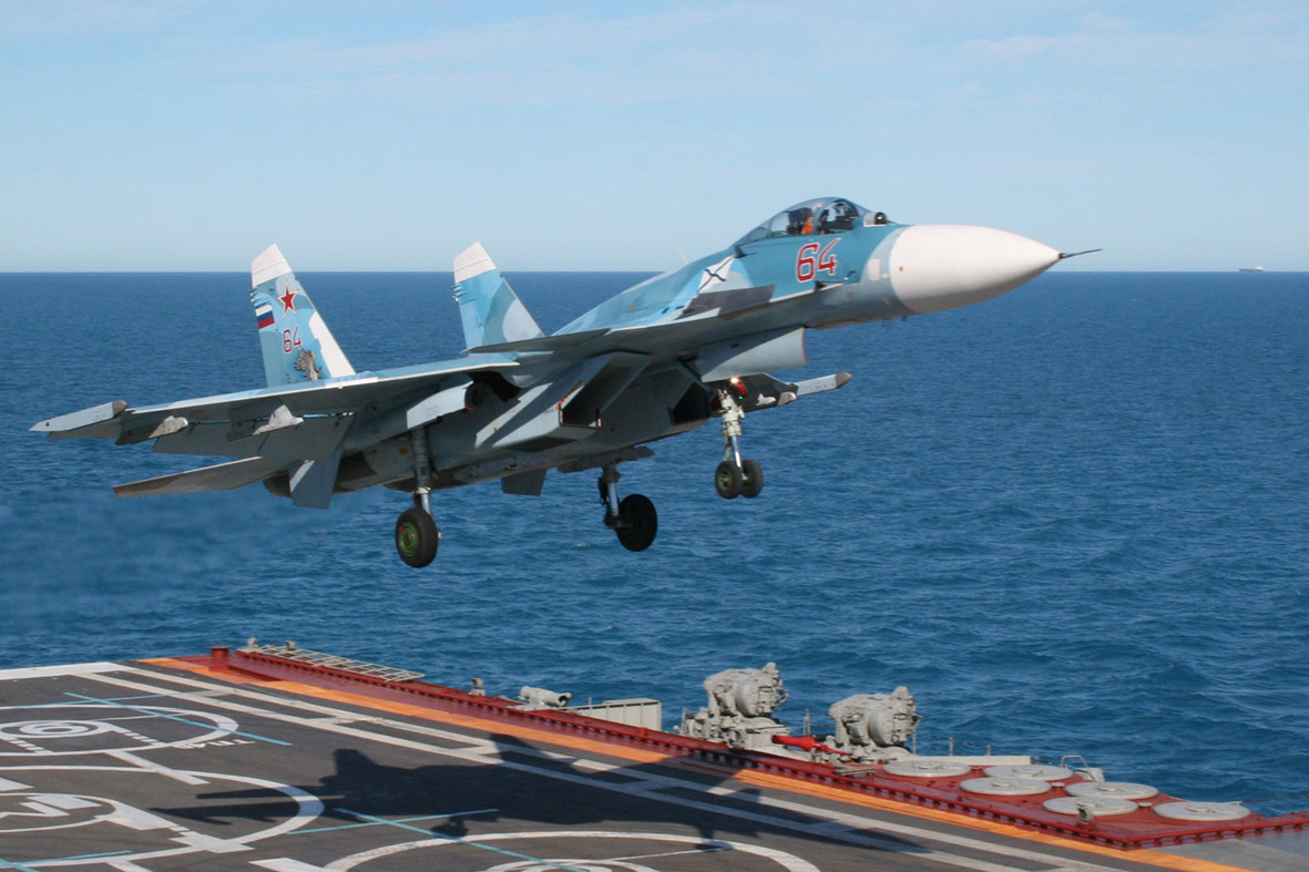 "Потерян Су-33 с ""Адмирала Кузнецова"""