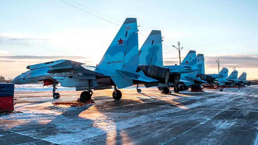 159-й истребительный авиационный полк на аэродроме Бесовец получил первые четыре Су-35С