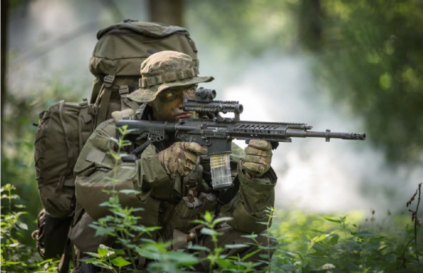 Rheinmetall and Steyr Mannlicher have developed a new RS556 automatic rifle