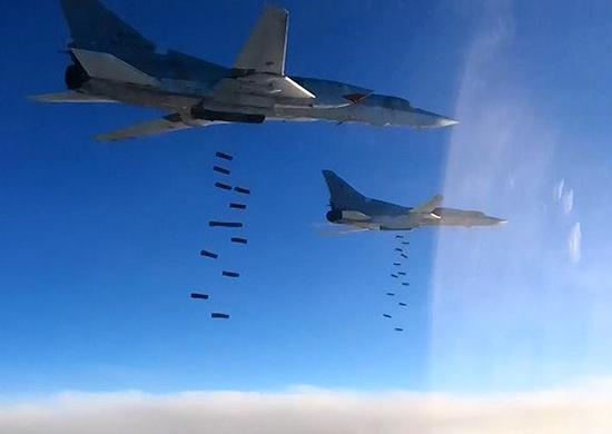 Совместные удары ВКС России в Сирии