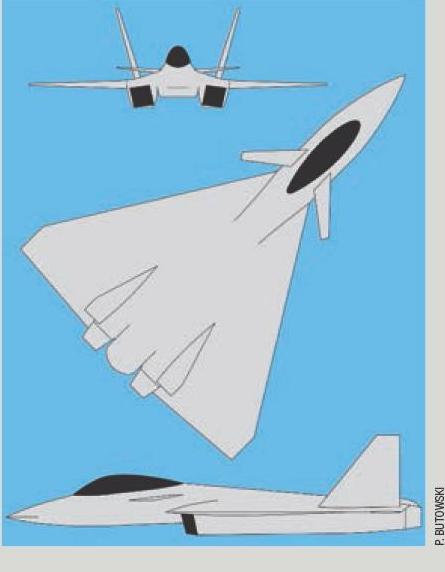 Опубликовано изображение и данные нового российского легкого истребителя ЛМФС