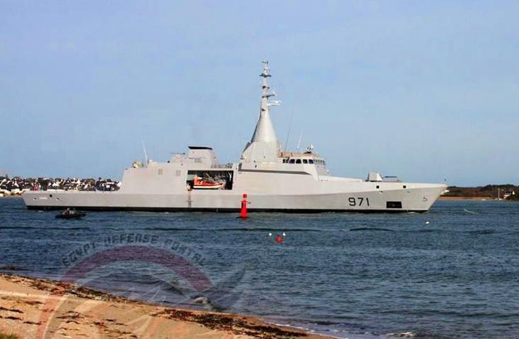 Египетский корвет проекта Gowind 2500 в море