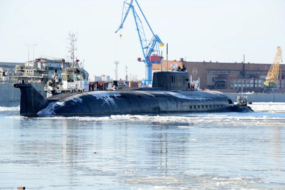 """Завершен ремонт атомного подводного крейсера """"Орёл"""""""