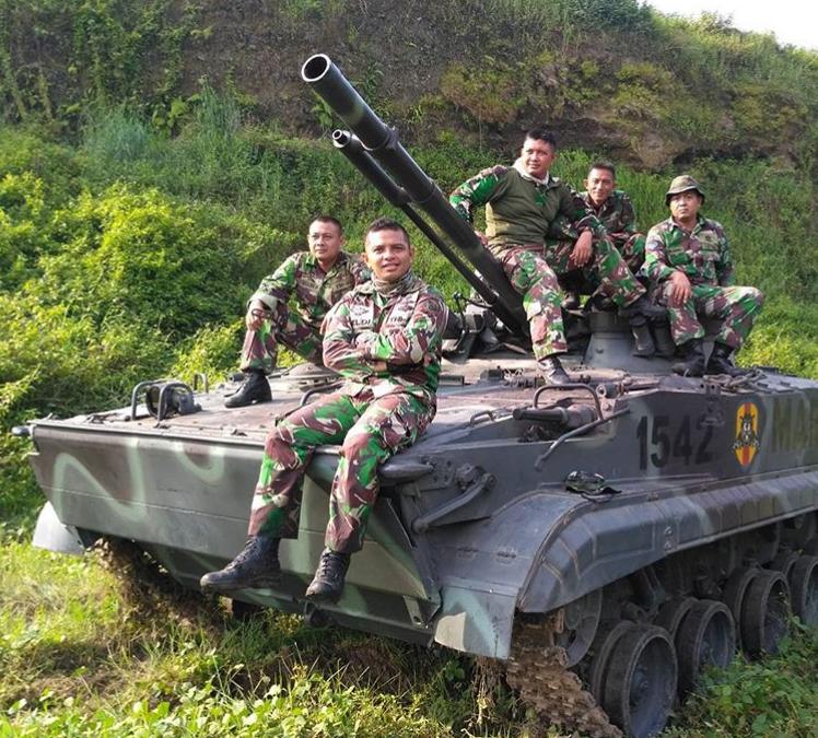 Боевые машины пехоты БМП-3Ф в составе морской пехоты Индонезии