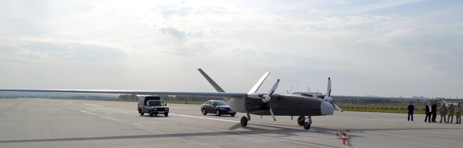 Снимок прототипа-демонстратора беспилотного летательного аппарата тяжелого класса «Альтаир»