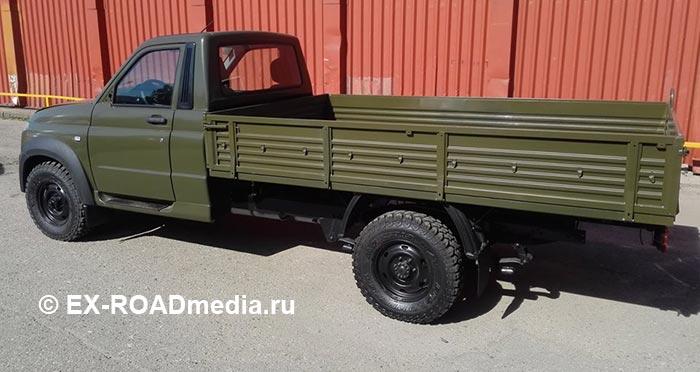 Военный вариант легкого грузового автомобиля УАЗ Profi