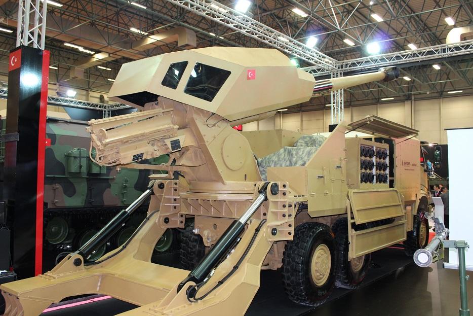 Новые турецкие 155-мм самоходные гаубицы на колесном шасси 120A