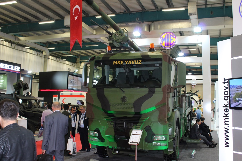 Новые турецкие 155-мм самоходные гаубицы на колесном шасси 125