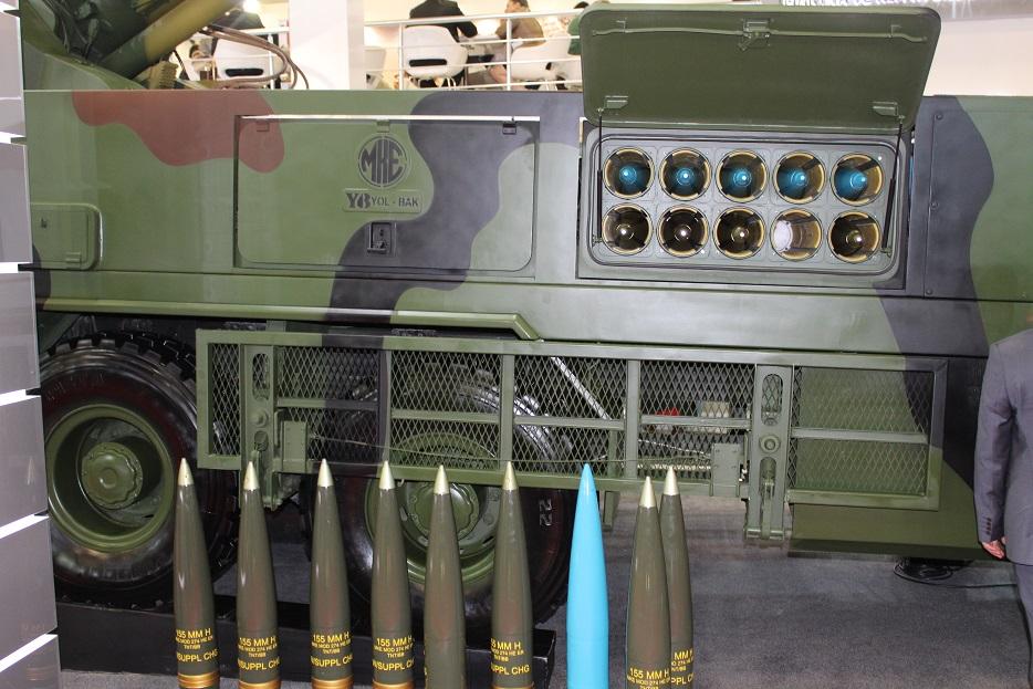 Новые турецкие 155-мм самоходные гаубицы на колесном шасси 128