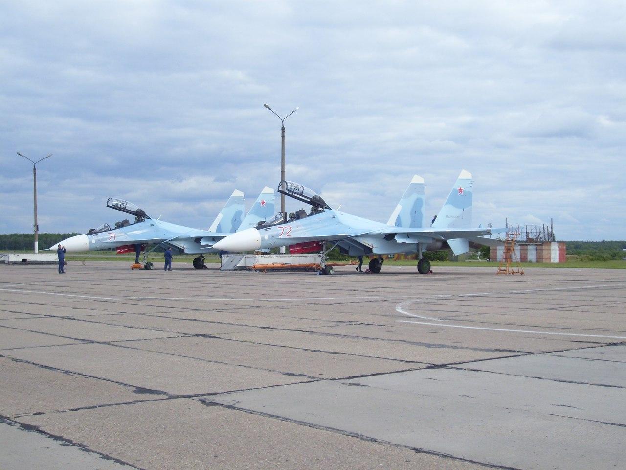 14-й гвардейский истребительный авиационный полк получил первые два истребителя Су-30СМ