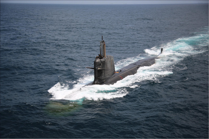 Вторая индийская подводная лодка типа Scorpene вышла в море