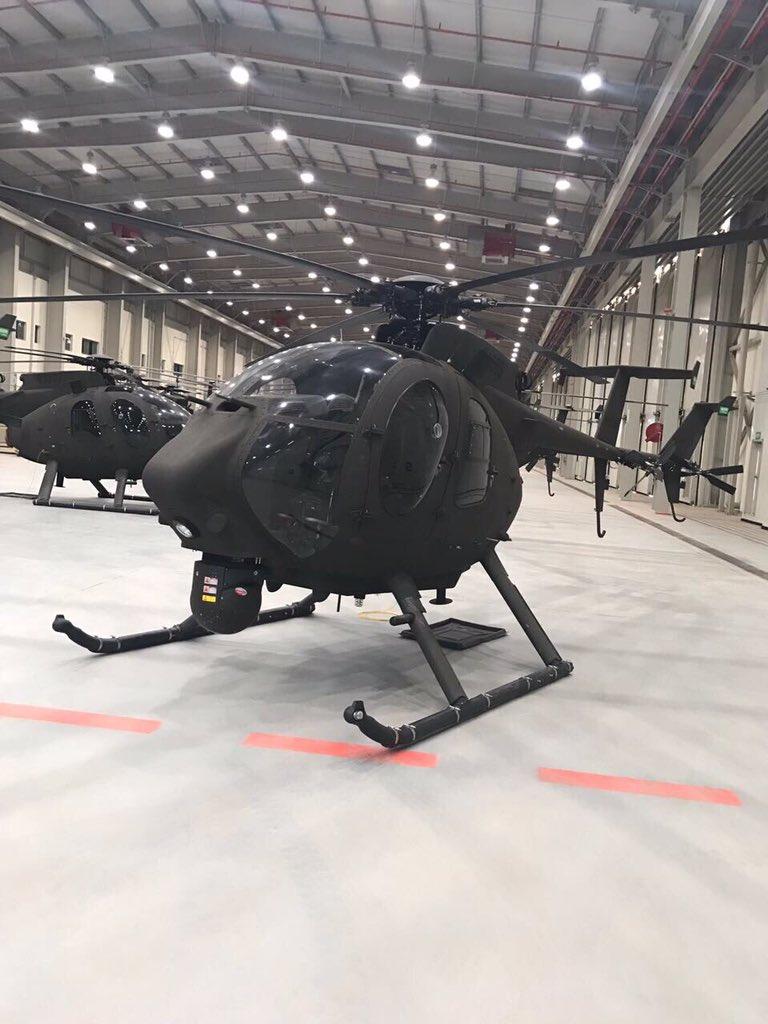 Саудовская Аравия получила первые легкие боевые вертолеты AH-6SA
