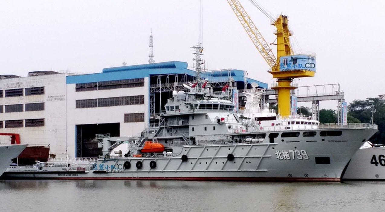 Новый китайский морской буксир