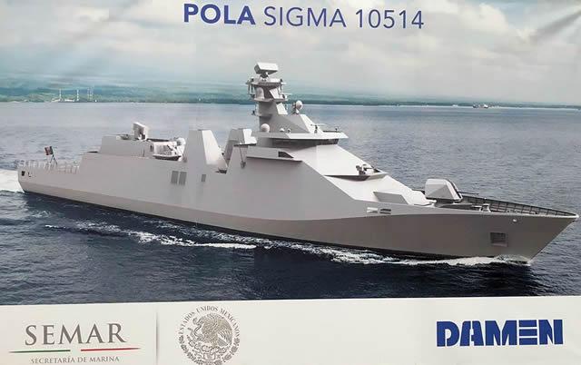 Заложен фрегат проекта SIGMA 10514 для мексиканского флота