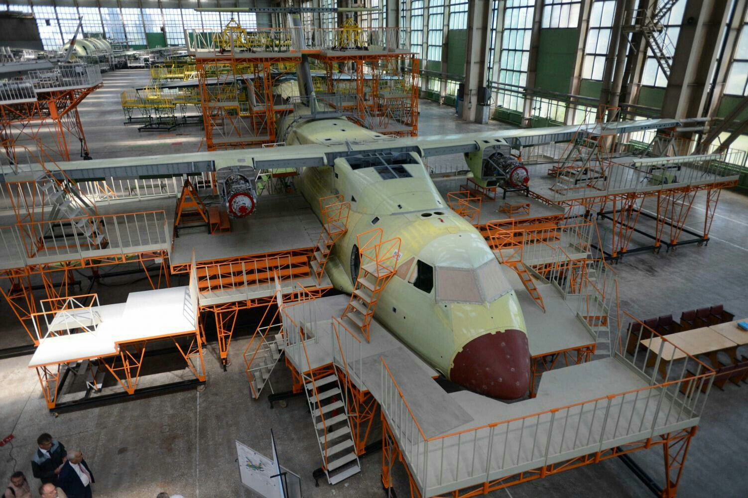 The first prototype of the Il-112V aircraft under construction has received engines 73
