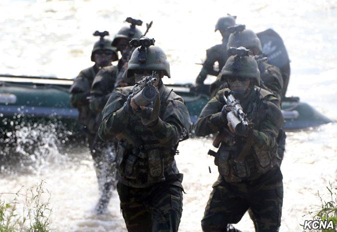 Соревнования северокорейских частей специальных операций
