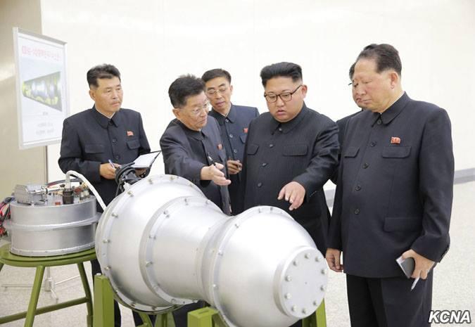 Ким Чен Ын осмотрел северокорейский термоядерный заряд