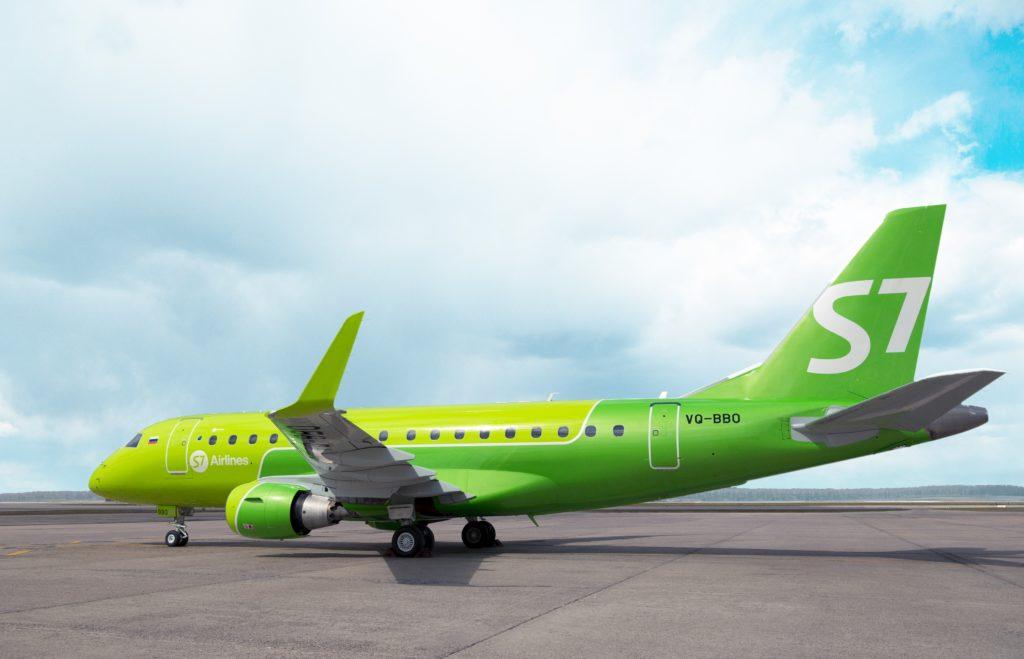 Авиакомпания S7 планирует приступить к эксплуатации самолетов Embraer 170-LR на рейсах в Якутск
