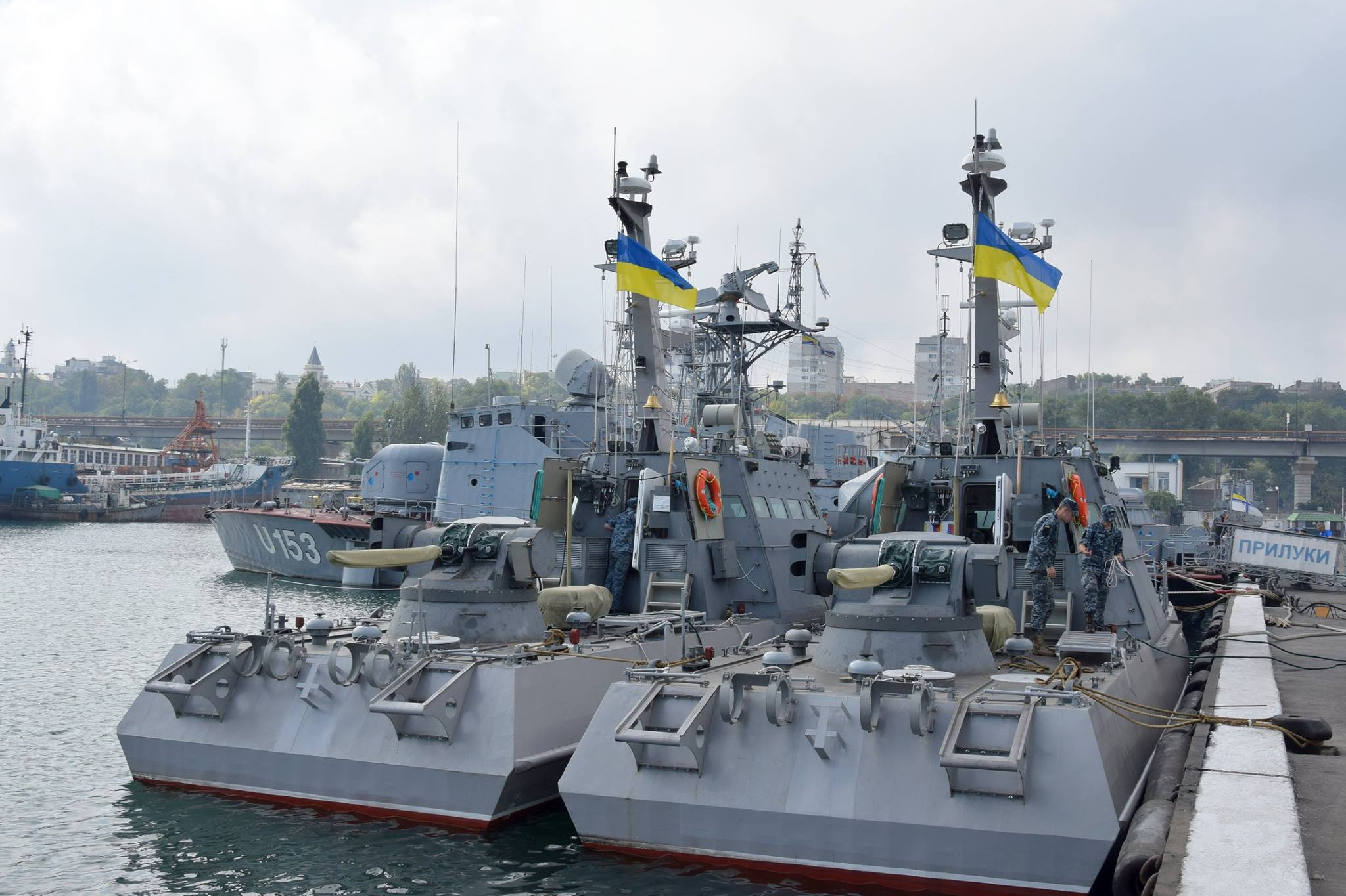 В Одессу прибыли еще два украинских малых бронированных артиллерийских катера проекта 58155