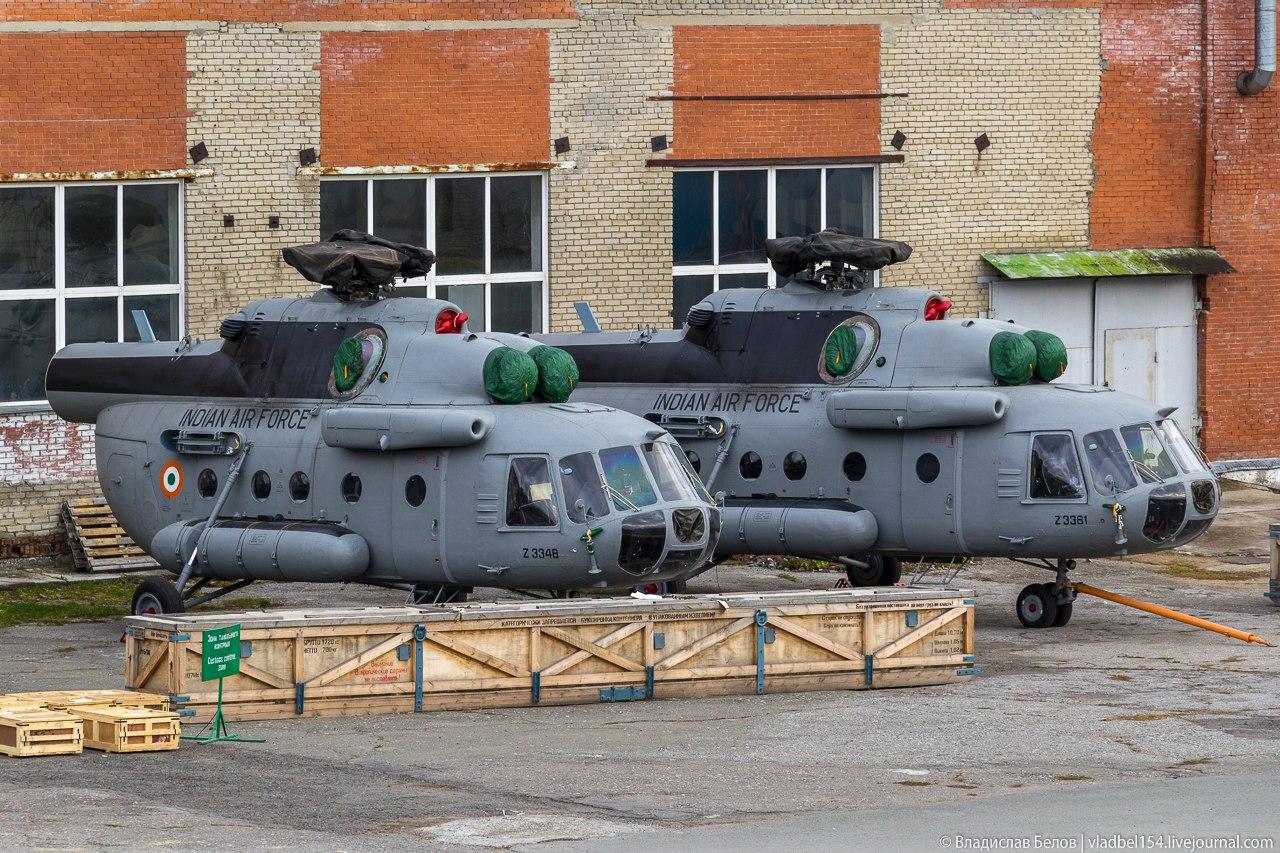 Новосибирский авиаремонтный завод отремонтировал первые пять вертолетов Ми-17-1В ВВС Индии