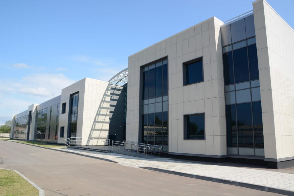 Здание центра управления полетами МЦ АУВД-крупный план