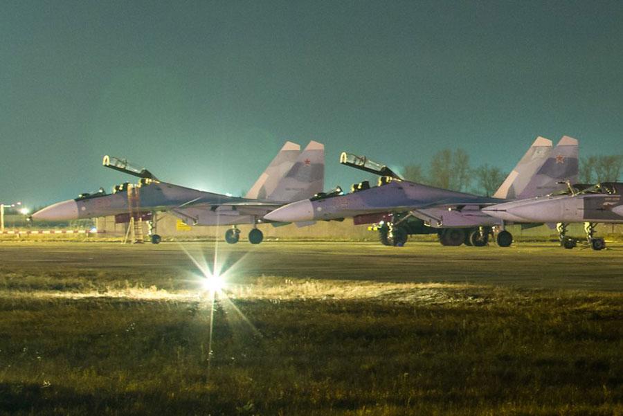 Еще два новых Су-30СМ идут в Курск
