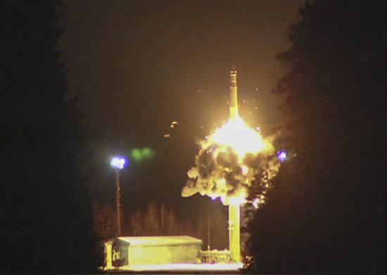 Плановая тренировка по управлению Стратегическими ядерными силами России