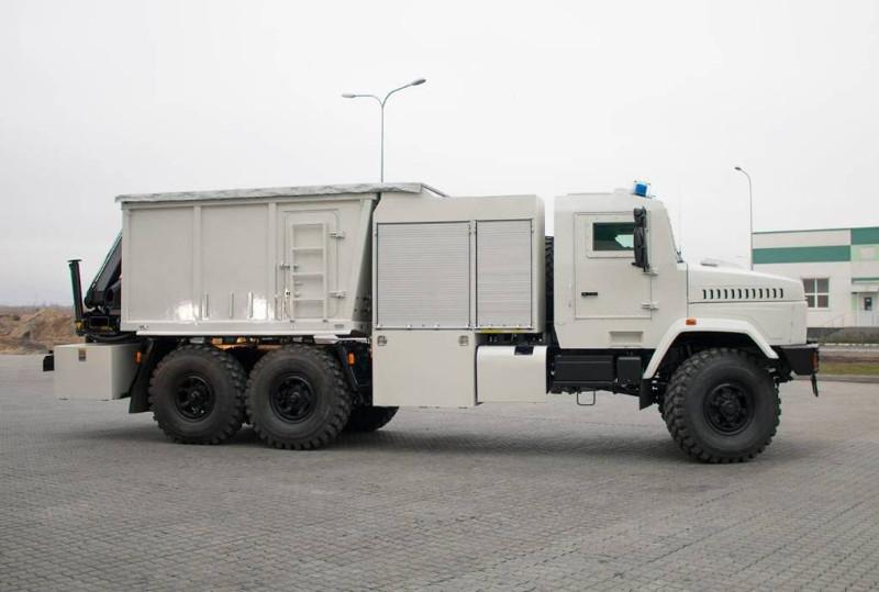 """ЧАО """"АвтоКрАЗ"""" разработало пиротехническую машину тяжелого класса КрАЗ-6322 ПМ-В"""