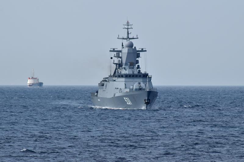 Корветы проекта 20380 впервые вошли в Средиземное море